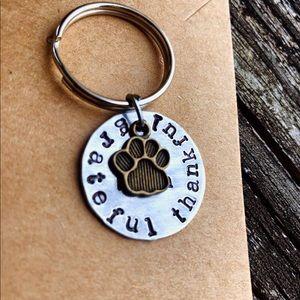 Accessories - Hand stamped dog mom keychain